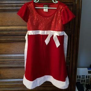 Holiday editions, Santa Velour Girls Dress